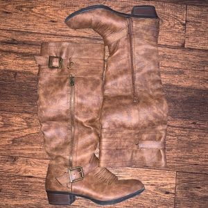 JustFab | Western Style Long Boots Size 7.5
